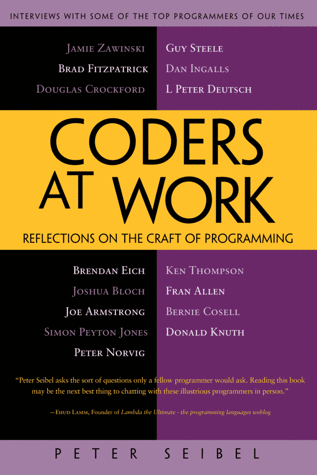 Скачать fb2 книгу: Coders at Work: Reflections on the craft of programming